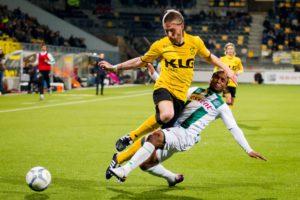 Spelers van Roda JC in actie